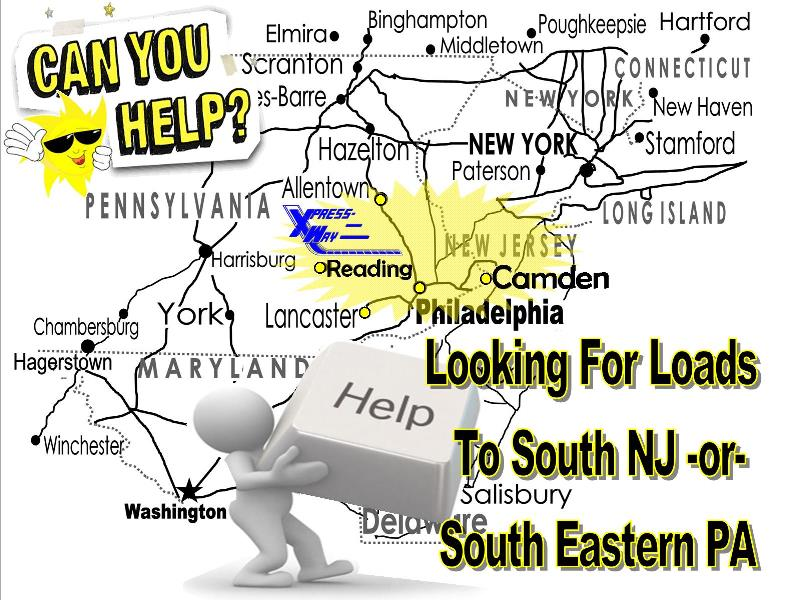 Needs Loads to SEPA & S.NJ