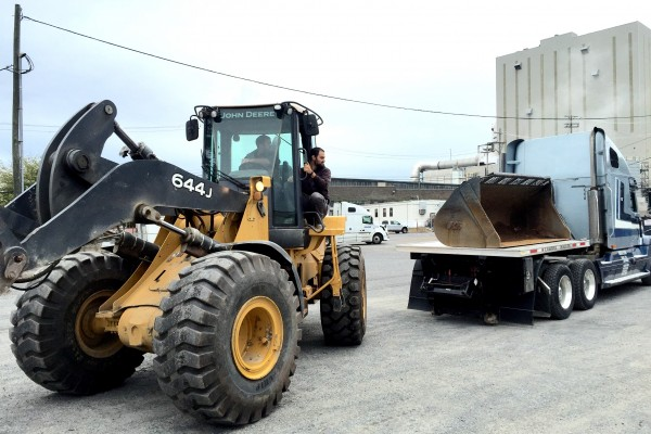 Loaning our Loader to a Customer.